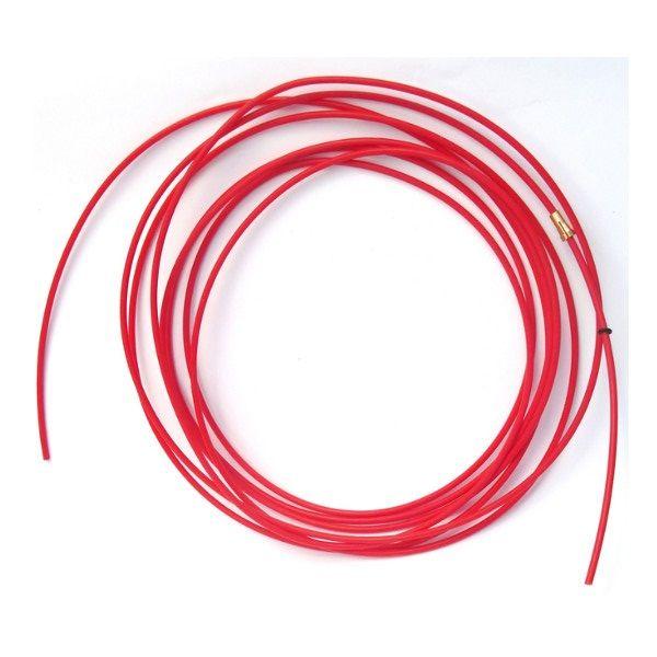 bowden 3,4m Binzel - červený (teflon), vnitřní průměr 2mm, 126.0021