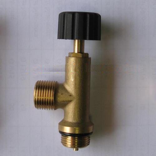 """KOVA 1207 - ventil uzavírací, odtlačný na 2kg láhev PB - výstupní závit 3/8""""LH"""