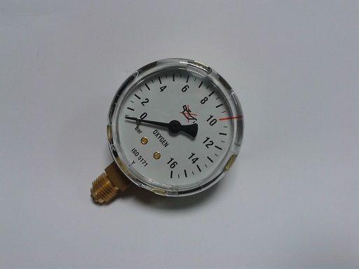 manometr výstupní kyslík O2, závit G 1/4 - nový typ 16 bar, 388411360872