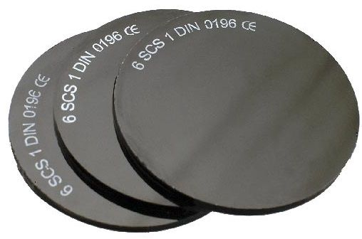 průměr 50mm č. 04 - tmavé sklo svařovací, 1ks