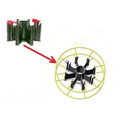 redukce cívky plastová - adaptér osmiramenný, j81750
