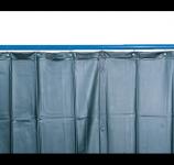 Kemper v. 2400 x š. 1300mm - svářečská zástěna tmavězelená, 70 100 104
