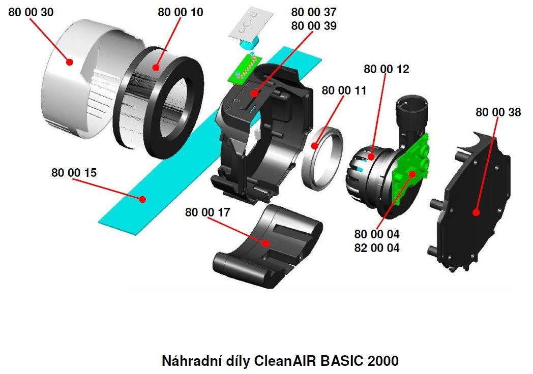800011 - těsnění filtru pro Clean Air Basic 2000