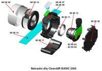 800039 - střední díl s klávesnicí pro Clean Air Basic 2000 Flow Control