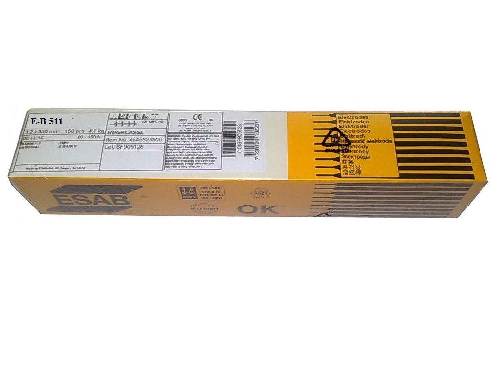 ESAB E-B 511 2,0/300/1,6kg/121ks - elektroda obalená, tvrdonávarová