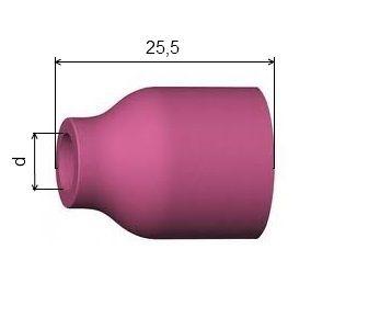 č.4 TIG hubice keramická pro domeček s plynovým sítkem SRT9, 20, 53N58, 701.0317