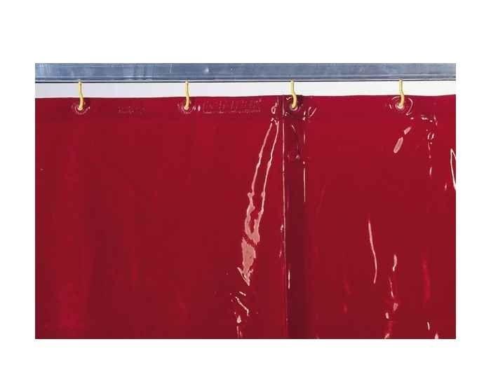 Kemper v. 1600 x š. 1300mm - svářečská zástěna červená, 70 100 400