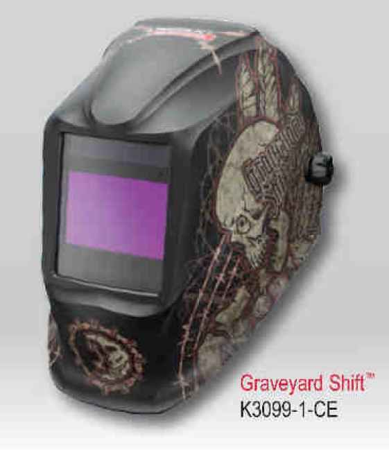 Lincoln Viking Helmet 2450 CE NS-Graweyard Shift (4 senzory) - samostmívací kukla svářečsk