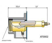 AT0002 - zásuvka EURO kompletní, radiální ke svářečce MIG/MAG (CO2)