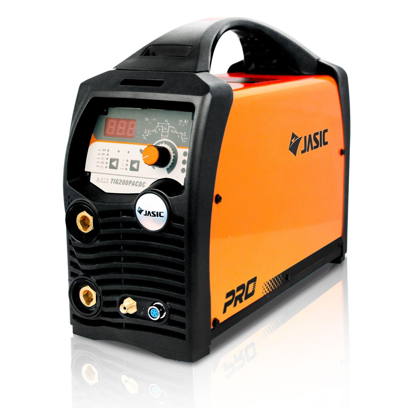 JASIC TIG 200P AC/DC E201 - invertor svářecí, hořák, zemnící kabel (sváření hliníku)