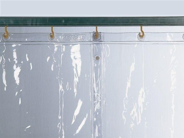 Kemper v. 1600 x š. 1300mm - ochranná zástěna průhledná, 70 100 500
