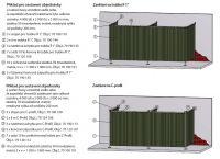 Kemper v. 1800 x š. 1300mm - ochranná zástěna průhledná, 70 100 501