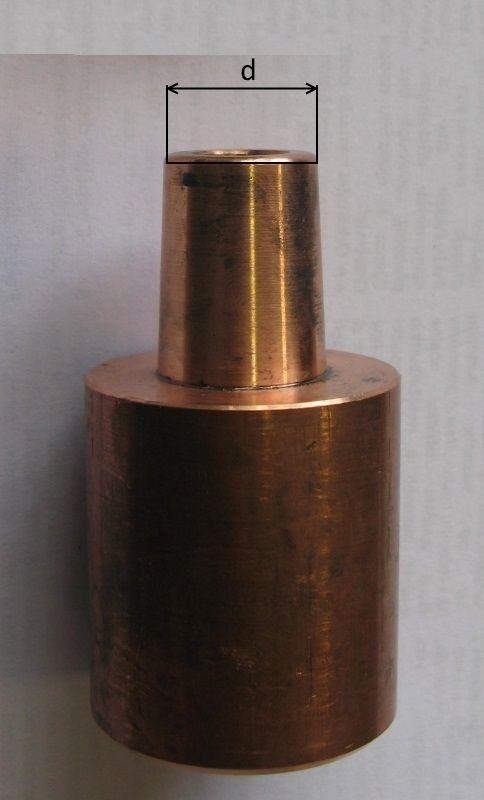 kužel 16 mm (pár) ploché hroty pro bodovku