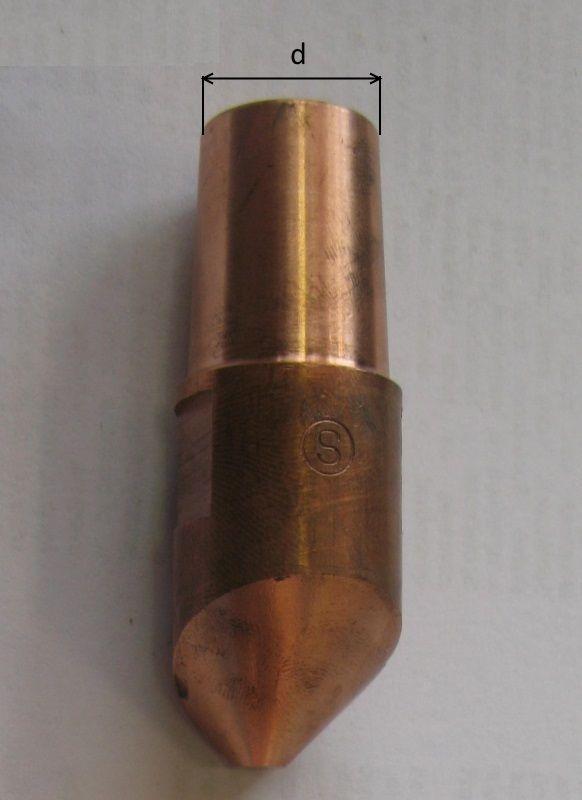 kužel 16 mm (pár) vyosené hroty pro bodovku