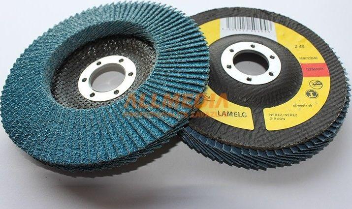 Lamelo 150mm/Z120 - kotouč lamelový zirkon (leg.ocel, nerez, litina, žáruvzdorné oceli)
