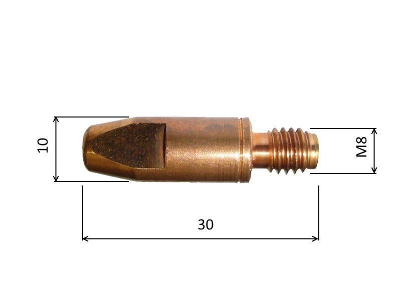 MB 1,2mm / 10mm / M8 - zirkon průvlak, 140.0445