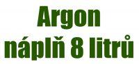Náplň ARGON 150 bar / 8 litrů - výměnným způsobem, 1,3m3