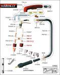 opěrka plechová Ergocut 105, (4530)