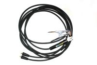 25mm2 / 5m (pár) 35-50 - gumové svářecí kabely s držákem elektrod do 200A