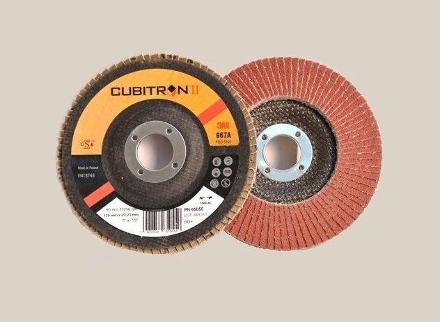 3M 967A 125/P80 - kónický lamelový kotouč Cubitron™ II na ocel, nerez, litina, hliník