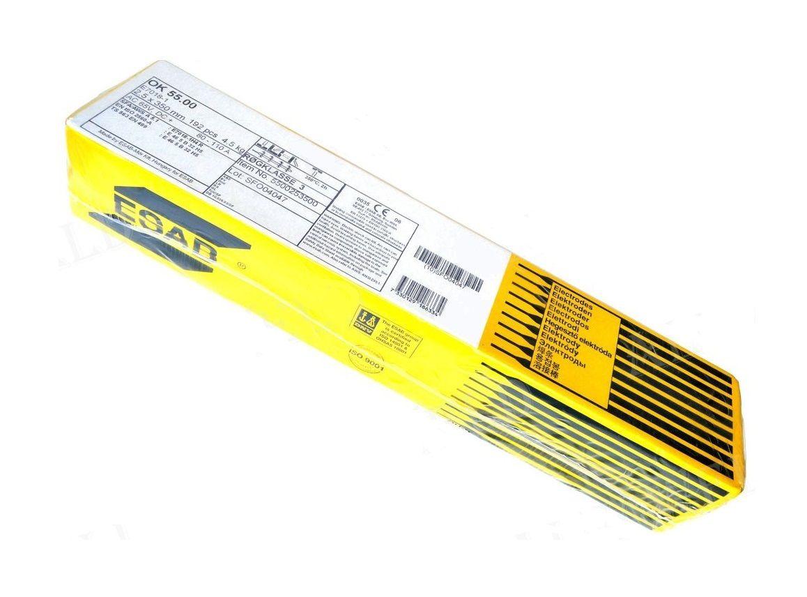 ESAB OK55.00 6,0/450/6,5kg/43ks/, elektroda obalená bazická (náhrada za E-B 125)