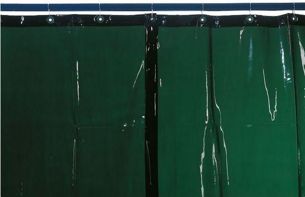 Kemper v. 1800 x š. 1300mm - svářečská zástěna zelená, 70 100 301