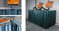 Kemper v. 2400 x š. 1300mm - svářečská zástěna zelená, 70 100 304