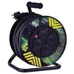Prodlužovací  kabel 3 x 2,5 / 25m na bubnu, 4 x zásuvka