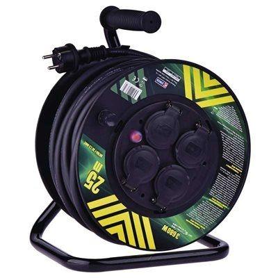 Prodlužovací kabel 3 x 2,5mm2 / 25m na bubnu, 4 x zásuvka