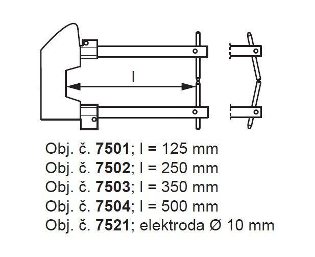 Tecna 7504 - 500mm ramena k ručním bodovkám
