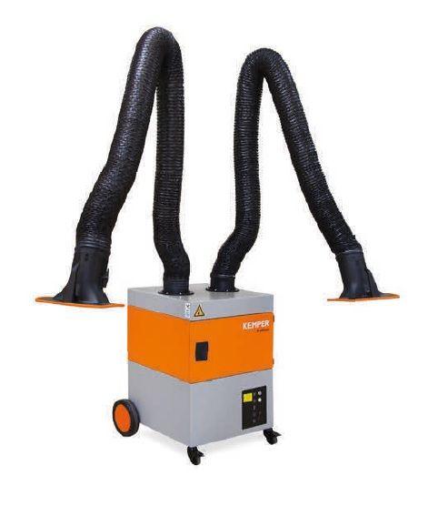Kemper ProfiMaster 2 x rameno 4m, hadicové provedení, mobilní odsávací zařízení