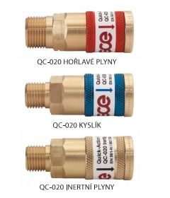 "Rychlospojka G 3/8"" na hadici, inertní plyn, samice, QC 20"