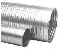 Potrubí 6 m, průměr 100 mm, tloušťka plechu 0,6mm, 8,4kg