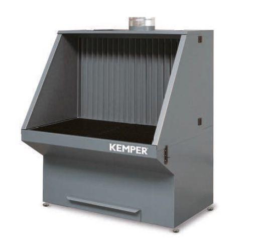 Brousící stůl 1360 x 1060 x 1700 /š,h,v/ pro odsávání, Kemper