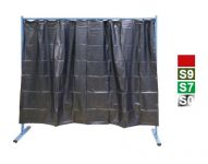 Červená 1-dílná ochranná stěna s fóliovými zástěnami, 70 600 501
