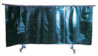 Červená /tl. 3mm/  1-dílná ochranná stěna s lamelami