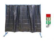 S9 tmavězelená 1-dílná ochranná stěna s fóliovými zástěnami, 70 600 500