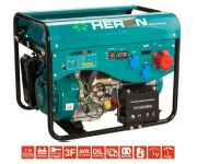 Heron LPGG 43-3F (13HP/5,3kW) elektrocentrála s elektrickým startem, třífázová, 8896319