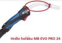 Binzel MB EVO PRO 24  - hrdlo svařovacího hořáku pro metodu MIG/MAG, 012.0374
