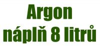 Náplň Argon 8 l / 200 bar / 1,7m3 - výměnným způsobem, 2722